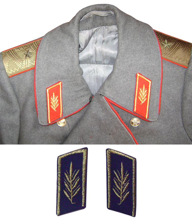 Embroidery Collar Tabs for overcoats and jackets