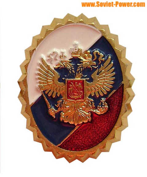 Security Service insignia hat badge (Eagle on the Flag)