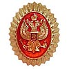 Russian Security Service hat insignia (Eagle on red)