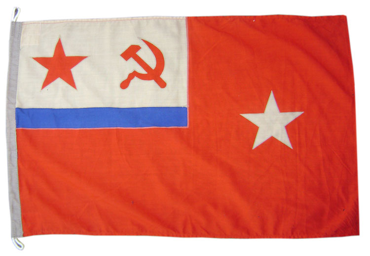 Connection ships Commander Navy flag from USSR Fleet