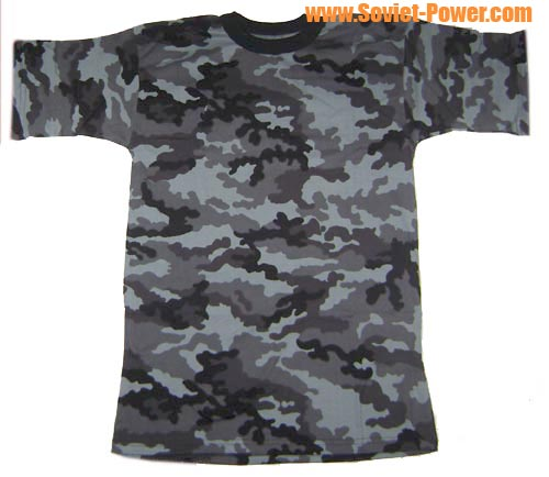 Russian Army Dark-Grey Camouflage T-Shirt