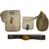 Russian Army soldier kit: belt + flask + 2 carry bags