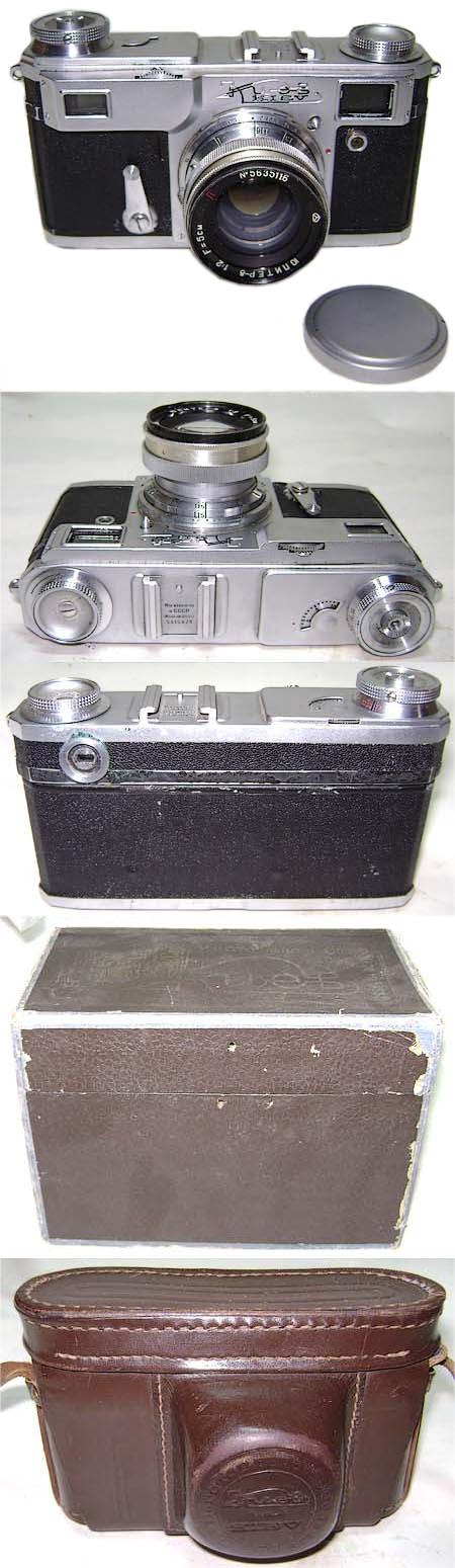 KIEV-2A Soviet camera 35mm CONTAX copy Jupiter-8 lens for