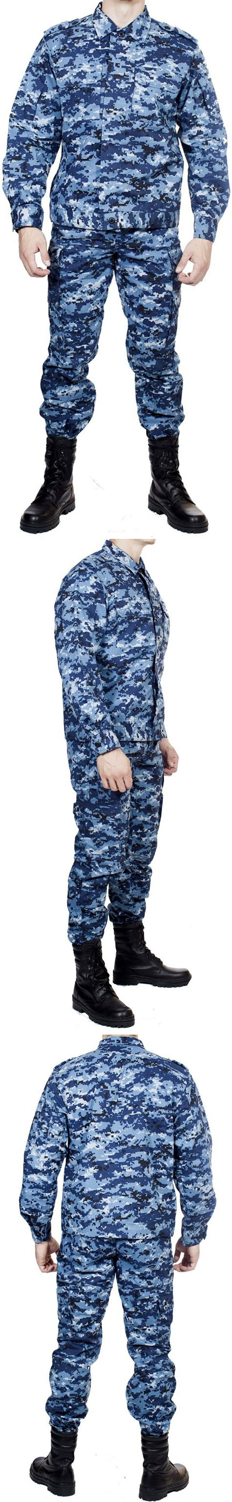 Russian Spetsnaz tactical Blue Digital camo uniform