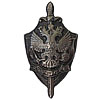 Soviet special badge KGB FSB State Security silver eagle USSR