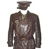 Soviet special KGB Agent old Leather Overcoat