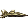 Soviet AIR FORCE Badge golden Military MIG-31 PLANE