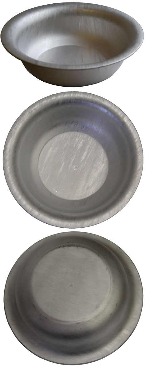 Soviet Army deep aluminum plates for food from MO USSR