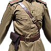 Russian Army military uniform - GIMNASTERKA + BELT with HOLSTER