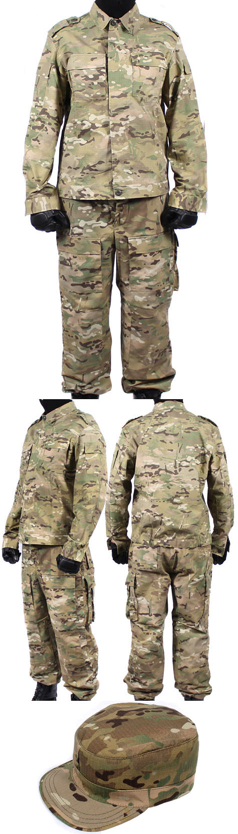 Modern tactical camo SKLON uniform MULTICAM