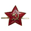 Brass & Enamel Russian Insignia RED STAR hat Badge