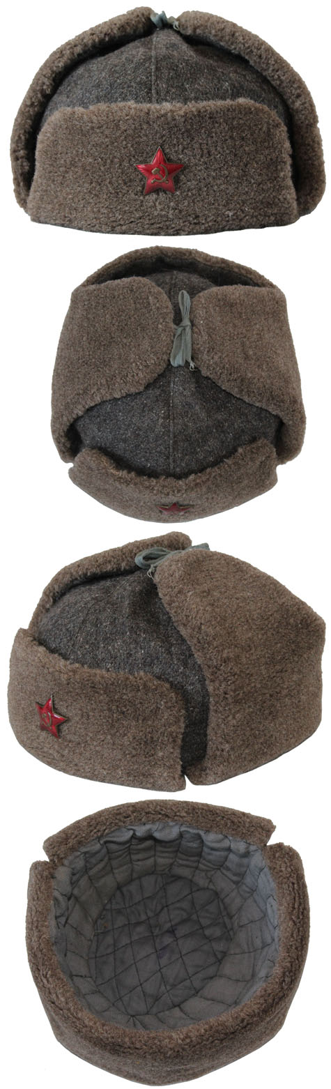 Old authentic USHANKA Russian Army HAT WWII type for sale - buy online ef5157ad9aa