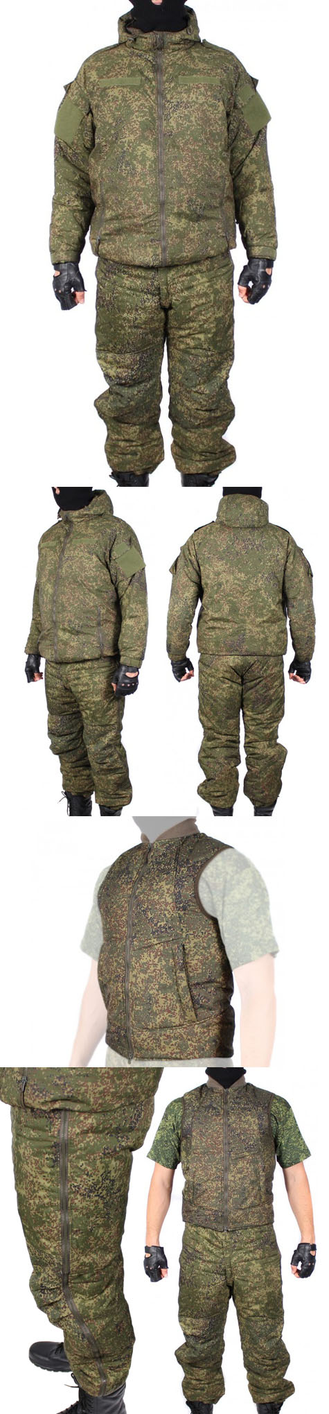 Russian tactical warm winter uniform kit VKBO camo