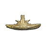 Soviet Golden SUBMARINE COMMANDER Metal BADGE Navy USSR