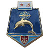 Soviet Metal UNDERWATER FLEET EMBLEM BADGE with DOLPHIN