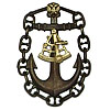 Metal badge Sea Captain (navigator)