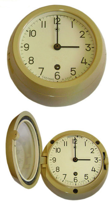 USSR Navy WALL CLOCK from Soviet ship / submarine