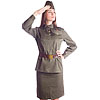 Russian Army woman Officer female uniform with hat