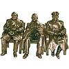 Yalta Conference bronze trinity - Roosevelt, Churchill and Stalin