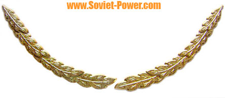 Special metal leaves for Russian visor hats
