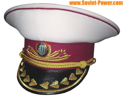 Ukraine Army General's Visor Hat white