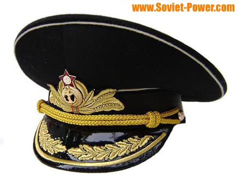 0791630ba61 ... spain soviet russian navy fleet admirals black ussr visor hat 0c42a  32aea