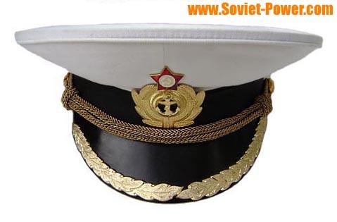 b5415bbee6ad0 Soviet Naval Captain parade visor hat for sale - buy online