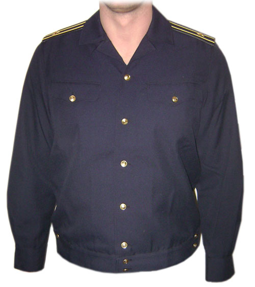 Summer blue jacket of Russian Navy Fleet Officer