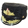 Russian NAVAL ADMIRAL winter PAPAHA HAT Animal leather