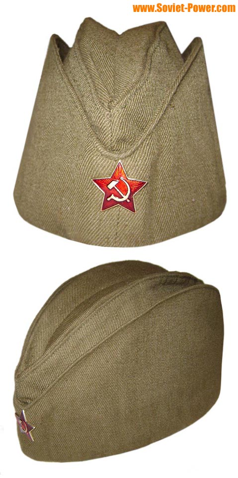 Russian soldiers military green hat Pilotka for sale - buy online 95cc432c5ec