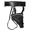 Russian MARINES OFFICER black Leather belt + holster