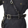 MARINES black Leather belt with shoulder belt PORTUPEYA + holster