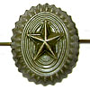 Russian Officer insignia field hat badge